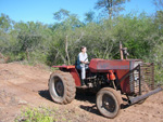 Our tractor, old but useful
